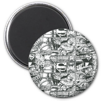 Black and White Logos 6 Cm Round Magnet