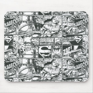Black and White Logos Mouse Pad