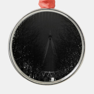 Black and white London eye Christmas Ornament