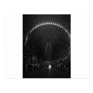 Black and white London eye Postcard