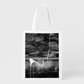 BLACK AND WHITE LONDON (URBAN WALL) REUSABLE GROCERY BAG