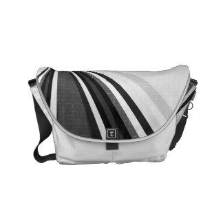Black and White Loops Messenger Bag