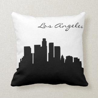 Black and White Los Angeles Skyline Cushion