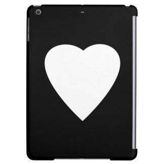 Black and White Love Heart Design.