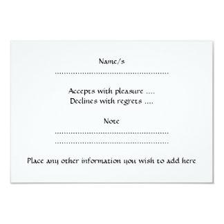 Black and White Love Heart Design. 9 Cm X 13 Cm Invitation Card