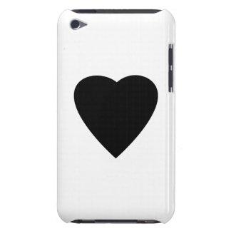 Black and White Love Heart Design. iPod Case-Mate Case