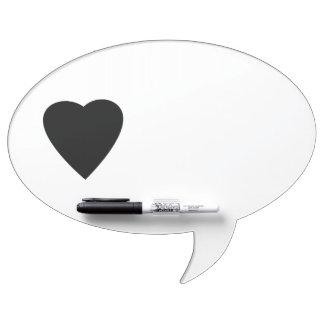 Black and White Love Heart Design. Dry Erase Boards