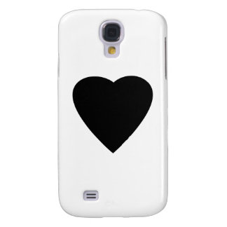 Black and White Love Heart Design. Galaxy S4 Case