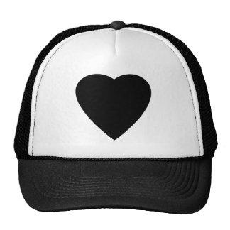 Black and White Love Heart Design Mesh Hats