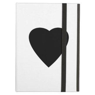 Black and White Love Heart Design iPad Folio Cases