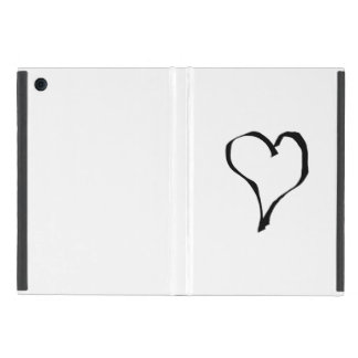Black and White Love Heart Design. iPad Mini Case