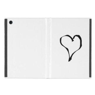 Black and White Love Heart Design iPad Mini Cover