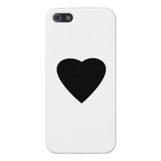 Black and White Love Heart Design. iPhone 5 Cover