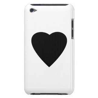 Black and White Love Heart Design. iPod Case-Mate Cases