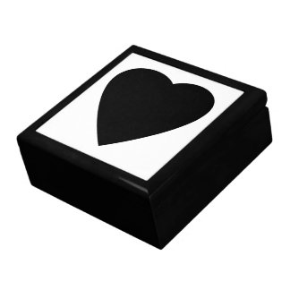 Black and White Love Heart Design. Large Square Gift Box