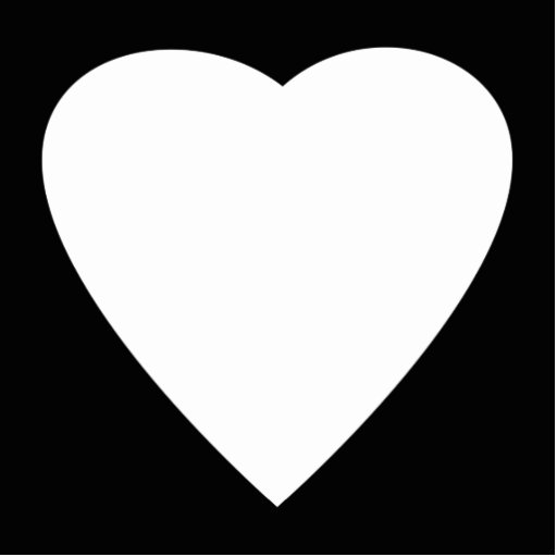 Black and White Love Heart Design. Cut Outs