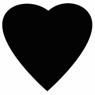 Black and White Love Heart Design Photo Cut Out