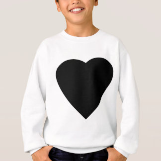 Black and White Love Heart Design. Sweatshirt