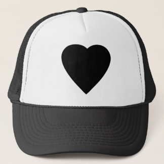 Black and White Love Heart Design. Trucker Hat
