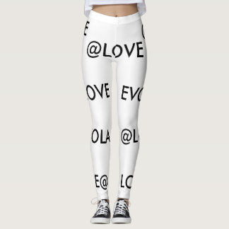Black and white @LOVE leggings