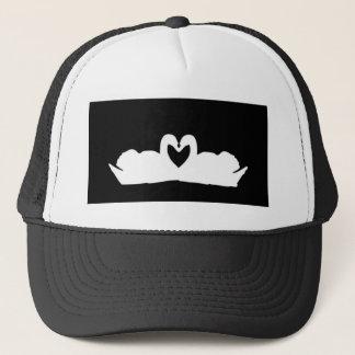 Black And White Love Swans Trucker Hat