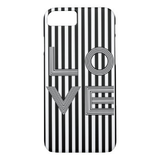 Black and White Love Typography iPhone 7 Case