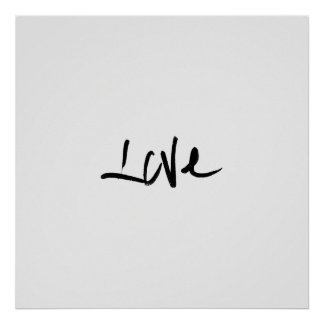 "Black and White ""Love"" Typography Poster"