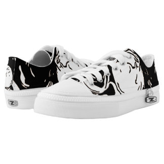 Black and White Low Top Shoes