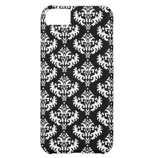 Black and White Luxurious Damask Pattern iPhone 5C Case