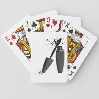 Black and white makeup mascara fashion girly playing cards