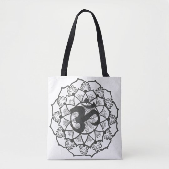 Black and White mandal Tote