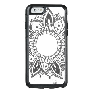 Black and White Mandala Art Custom OtterBox iPhone 6/6s Case