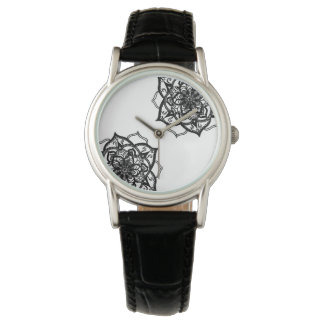 Black and White Mandala Inspired Design. Watch