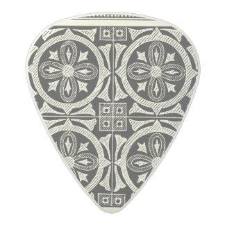 Black and White Mandala Motif by Vision Studio Acetal Guitar Pick