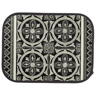 Black and White Mandala Motif by Vision Studio Car Mat