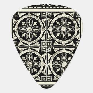 Black and White Mandala Motif by Vision Studio Guitar Pick