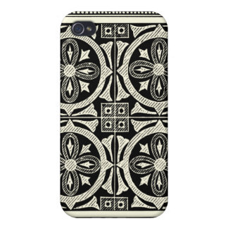 Black and White Mandala Motif by Vision Studio iPhone 4 Covers