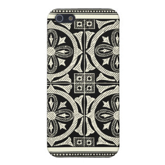Black and White Mandala Motif by Vision Studio iPhone 5 Cases
