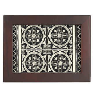 Black and White Mandala Motif by Vision Studio Keepsake Box