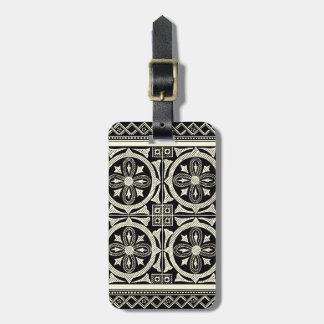 Black and White Mandala Motif by Vision Studio Luggage Tag