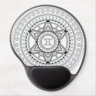 Black and White Mandala Mouse Pad