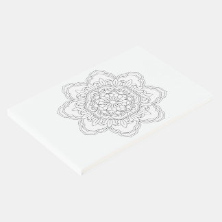 black and white mandala pattern vector guest book