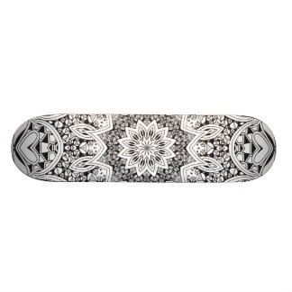 Black and White Mandala Skate Board Decks