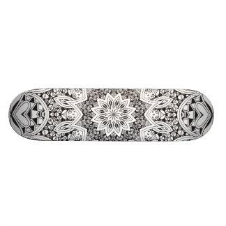 Black and White Mandala Skate Board Decks