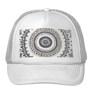 Black and White Mandala Snapback by Megaflora Cap