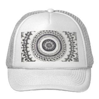 Black and White Mandala Snapback by Megaflora Cap