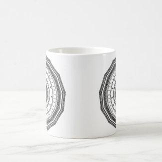 Black and White mandala with yin yang Coffee Mug