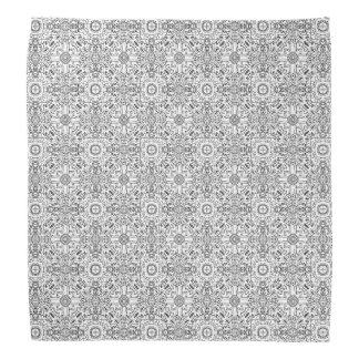 Black and White Mandala Zen Pattern Head Kerchiefs