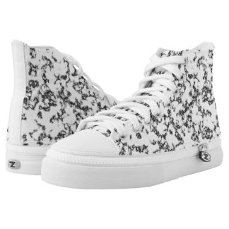 Black and white marble background high tops