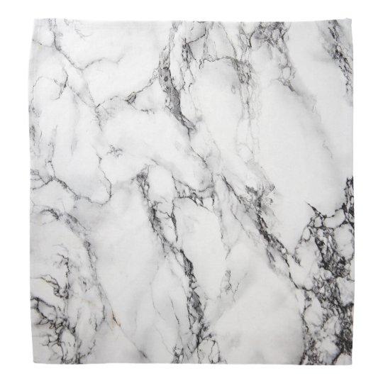 black and white marble bandana